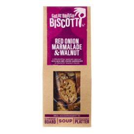 Great British Biscotti Red Onion Marmalade & Walnut Savoury Biscotti (100g)