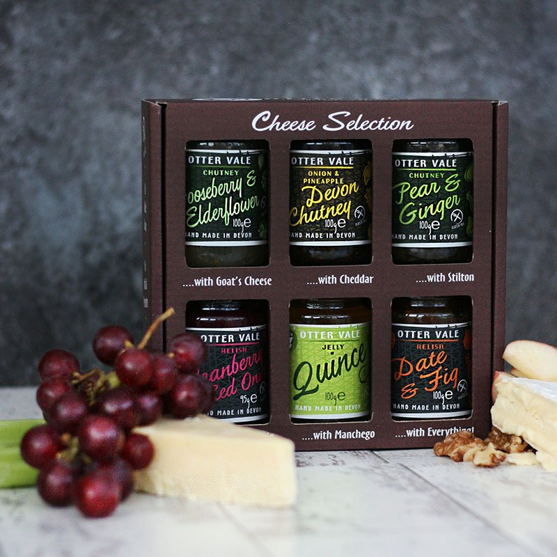 Otter Vale Cheese Tasting Selection Gift Pack - Handmade in Devon (6 x 100g)