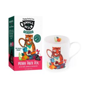 Small & Wild Merry Tiger Kids Fruit Tea & Mug Gift Set