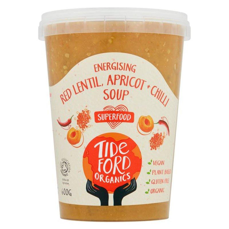 Tideford Organic Red Lentil, Apricot & Chilli Soup (600g)