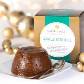Carved Angel Apple Strudel Christmas Pudding (454g)