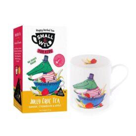 Small & Wild Jolly Croc Kids Fruit Tea & Mug Gift Set