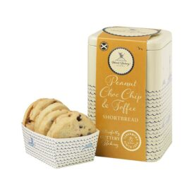Island Bakery Peanut, Choc Chip & Toffee Shortbread Biscuit Gift Tin (210g)