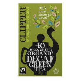 Clipper Organic Fairtrade Decaf Green Tea (40 Bags)