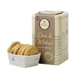 Island Bakery Date & Walnut Shortbread Biscuit Gift Tin (210g)