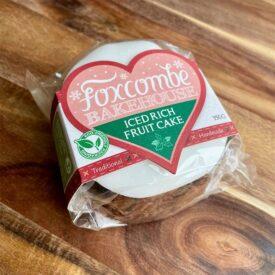 Foxcombe Bakehouse 4_ Round Iced Rich Fruit Cake (375g)
