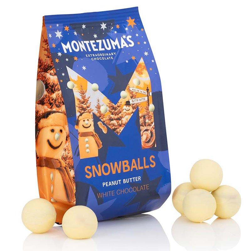 Montezuma's Peanut Butter White Chocolate Snowballs (150g)