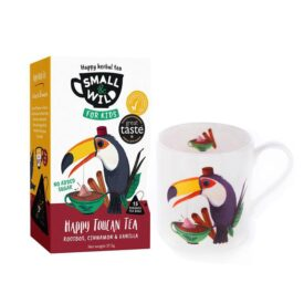 Small & Wild Happy Toucan Kids Herbal Tea & Mug Gift Set