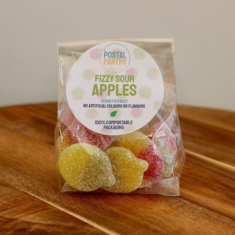Vegan Fizzy Sour Apples Sweets (125g)