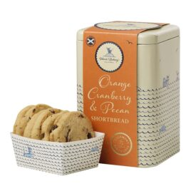 Island Bakery Organic Orange, Cranberry & Pecan All Butter Shortbread Biscuit Gift TIn (210g)