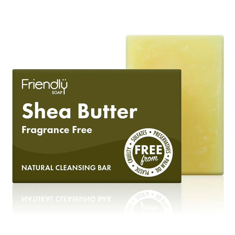 Friendly Soap Shea Butter Facial Cleansing Bar - Fragrance Free (95g)
