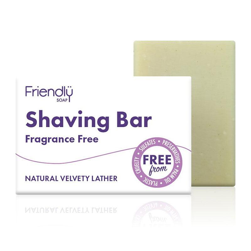 Friendly Soap Shaving Bar - Fragrance Free (95g)
