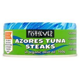 Fish 4 Ever Azores Skipjack Tuna Steaks in Organic Olive Oil (160g)