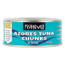 Fish 4 Ever Azores Skipjack Tuna Chunks in Brine (160g)