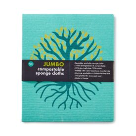 Eco Living Jumbo Compostable Sponge Cleaning Cloths - Green (4 Pack) 3