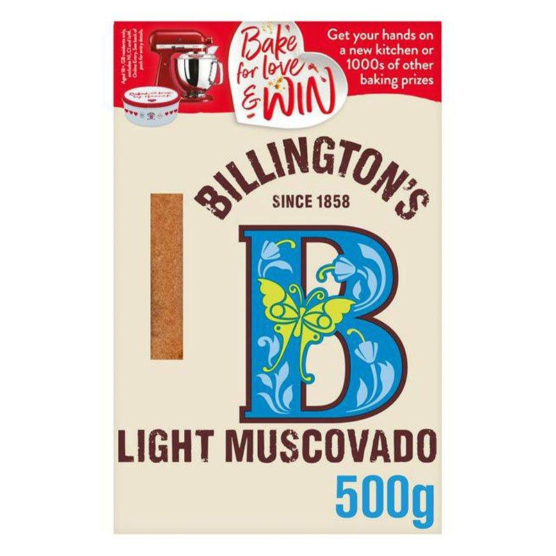 Billington's Natural Light Muscovado Sugar (500g)