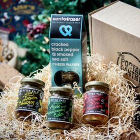 Gluten Free Chutneys & Crackers Gift Box Hamper - Corporate Gifts & Hampers