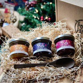 Christmas Preserves with Handmade Spoon Gift Box Hamper