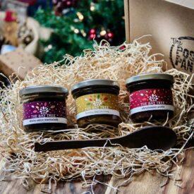 Christmas Chutneys with Handmade Spoon Gift Box Hamper 3