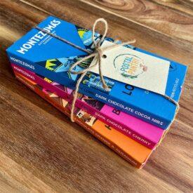 Montezuma's Dark Chocolate Bar Hand-Tied Gift Set