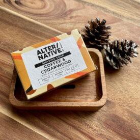 Handmade Shaving Soap & Acacia Wood Soap Dish Hand-Tied Gift Set