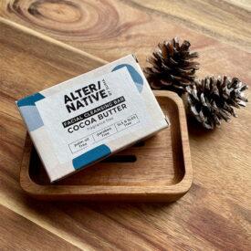 Handmade Facial Cleansing Soap & Acacia Wood Soap Dish Hand-Tied Gift Set